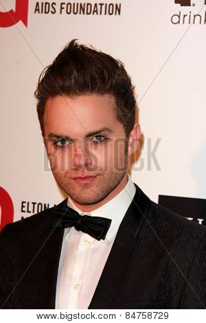 LOS ANGELES - FEB 22:  Thomas Dekker at the Elton John Oscar Party 2015 at the City Of West Hollywood Park on February 22, 2015 in West Hollywood, CA