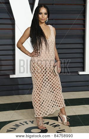 LOS ANGELES - FEB 22:  Zoe Kravitz at the Vanity Fair Oscar Party 2015 at the Wallis Annenberg Center for the Performing Arts on February 22, 2015 in Beverly Hills, CA