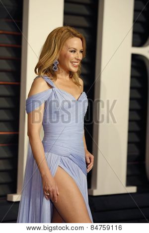 LOS ANGELES - FEB 22:  Kylie Minogue at the Vanity Fair Oscar Party 2015 at the Wallis Annenberg Center for the Performing Arts on February 22, 2015 in Beverly Hills, CA