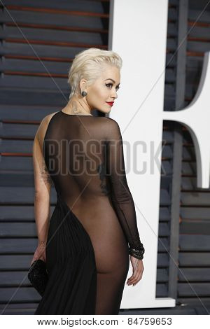 LOS ANGELES - FEB 22:  Rita Ora at the Vanity Fair Oscar Party 2015 at the Wallis Annenberg Center for the Performing Arts on February 22, 2015 in Beverly Hills, CA