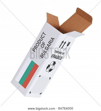 Concept Of Export - Product Of Bulgaria