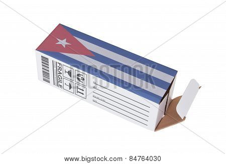 Concept Of Export - Product Of Cuba