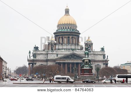 Saint-petersburg, Russia - November 22: The Famous St. Isaac Cathedral