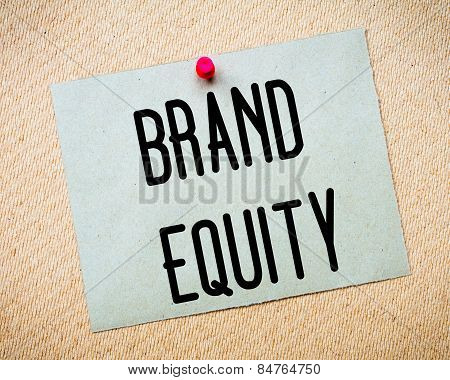 Brand Equity Message
