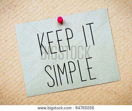 Keep It Simple Message