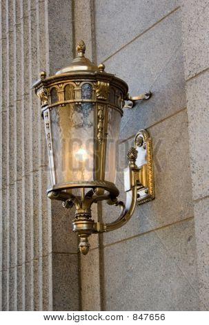 Vintage Brass Street Light