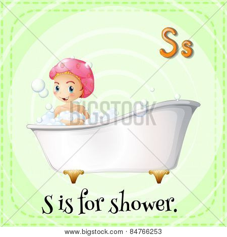Alphabet S is for shower