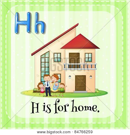 Letter H is for home