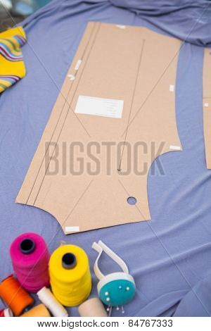 Close up of fashion designers table