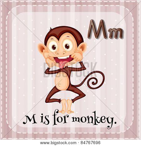 Alphabet M is for monkey