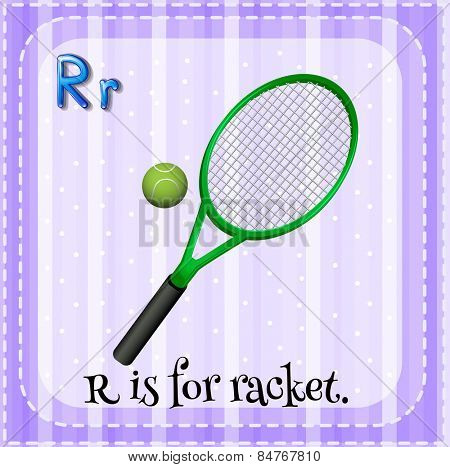 R is for racket