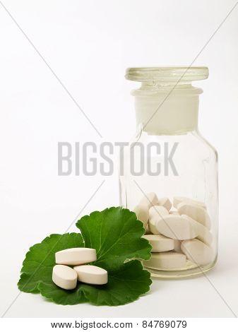 Pharmacy bottle of pills