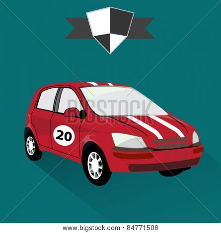 sports racing car icon