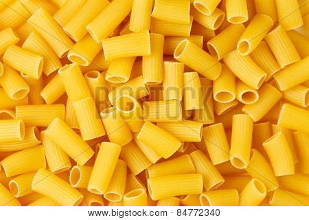 Background of italian pasta Rigatoni