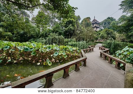 Du Fu thatched Cottage park in honour of the Tang Dynasty poe in Chengdu Sichuan China