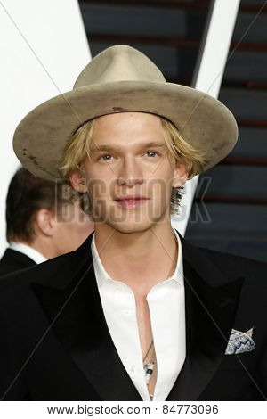 LOS ANGELES - FEB 22:  Cody Simpson at the Vanity Fair Oscar Party 2015 at the Wallis Annenberg Center for the Performing Arts on February 22, 2015 in Beverly Hills, CA
