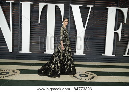 LOS ANGELES - FEB 22:  Georgina Chapman at the Vanity Fair Oscar Party 2015 at the Wallis Annenberg Center for the Performing Arts on February 22, 2015 in Beverly Hills, CA