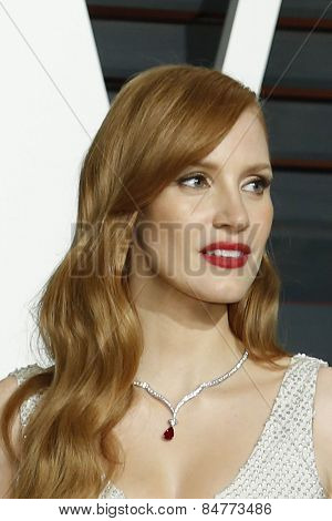 LOS ANGELES - FEB 22:  Jessica Chastain at the Vanity Fair Oscar Party 2015 at the Wallis Annenberg Center for the Performing Arts on February 22, 2015 in Beverly Hills, CA