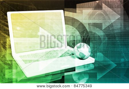 Internet Web Abstract on a Digital Background