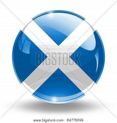 3D, crystal sphere Scotland