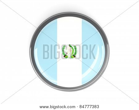 Round Button With Flag Of Guatemala