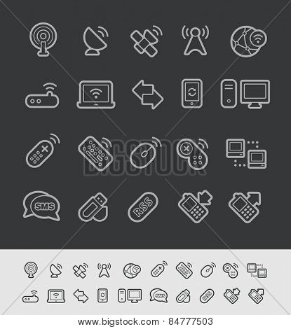 Wireless Communications Icons // Black Line Series -- EPS 10+ Contain Transparencies
