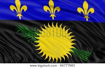 3D Guadeloupe flag