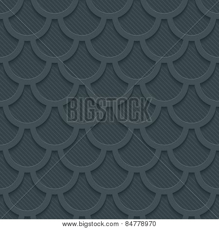 Dark gray 3D perforated paper with cut out effect. Editable EPS10. See others in my Perforated Paper Sets.