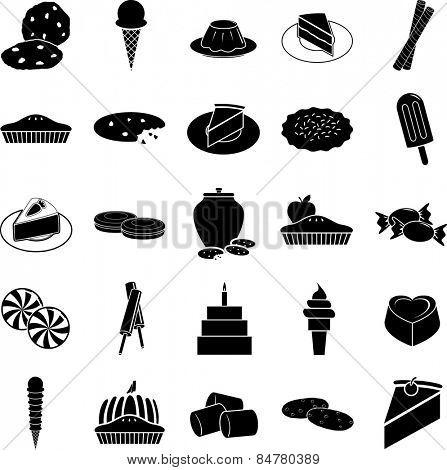 desserts symbols set