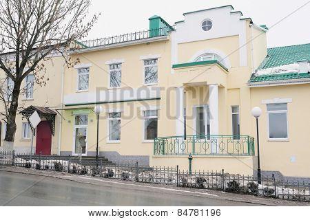 RUSSIA, KALUGA REGION, KOZELSK - FEBRUARY, 23: building of the Sberbank in the town of Kozelsk