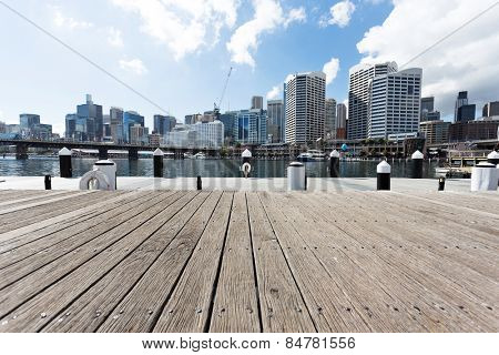 yacht harbor and cityscape of sydney