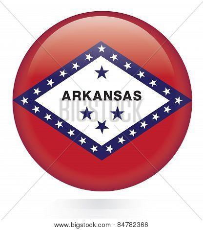 Arkansas flag button