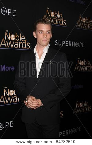 LOS ANGELES - FEB 27:  Jake Abel at the Noble Awards at the Beverly Hilton Hotel on February 27, 2015 in Beverly Hills, CA