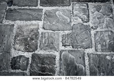 The Stone Pavement As The Background