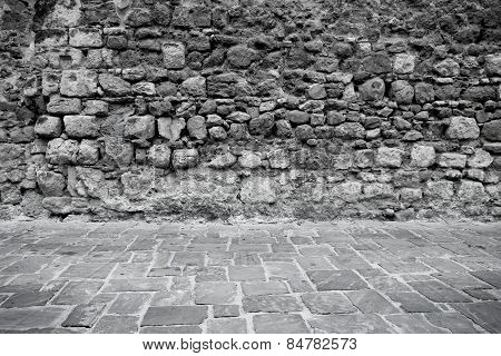 Stone Wall And Floor Texture Background