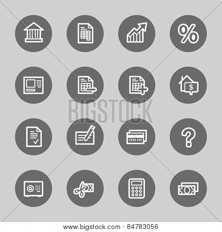 Banking web icons set