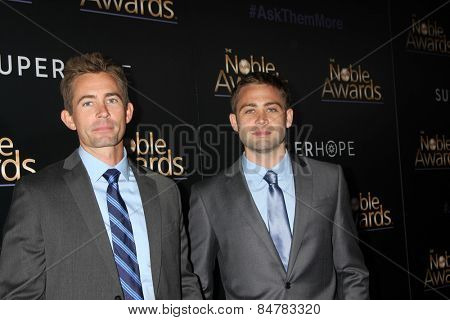 LOS ANGELES - FEB 27:  Caleb Walker, Cody Walker at the Noble Awards at the Beverly Hilton Hotel on February 27, 2015 in Beverly Hills, CA