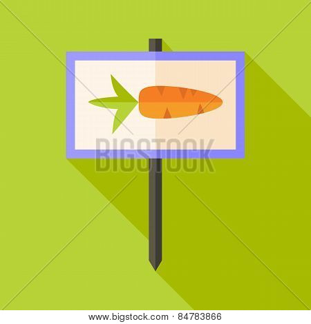 Garden Sign With Carrot