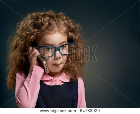 Child, talking on the phone