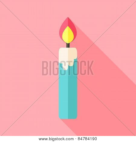 Religious Big Candle With Flame