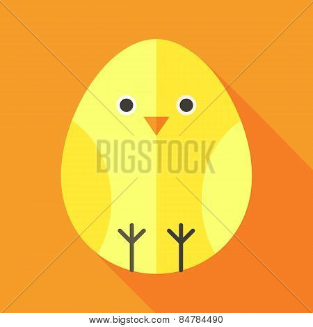 Yellow Chick Egg Shaped