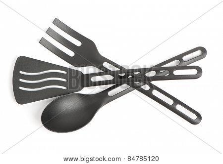 Plastic kitchen utensil isolated on white background