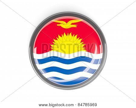 Round Button With Flag Of Kiribati