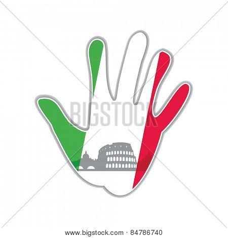 Symbol of the city - Rome. The idea for the design