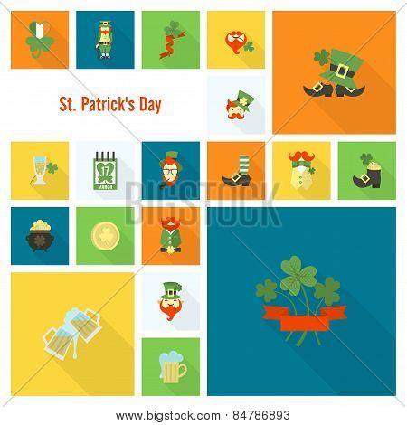 Saint Patricks Day Icon Set