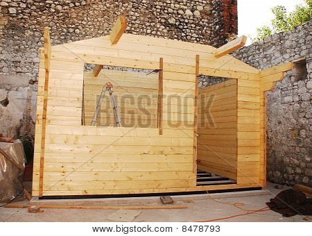 Partially Constructed Cabin