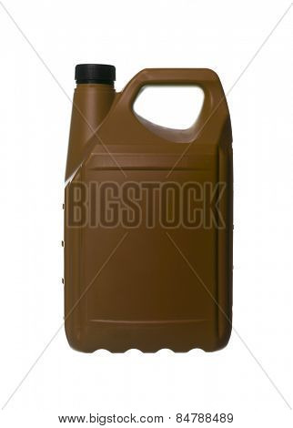 Brown plastic can isolated on white background