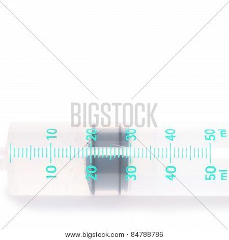 Medical Syringe Isolated On White Background