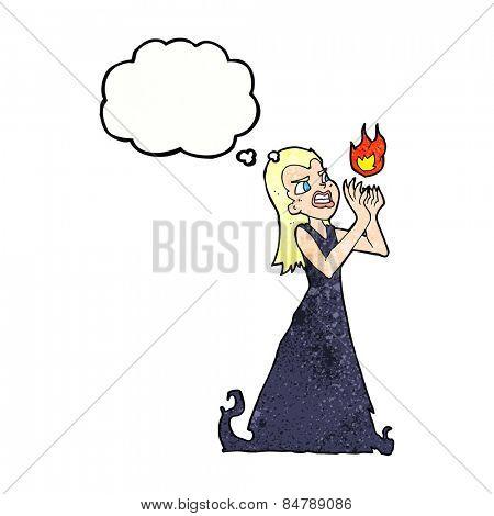 cartoon witch woman