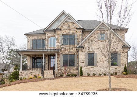 New Brick Home On Winter Hill